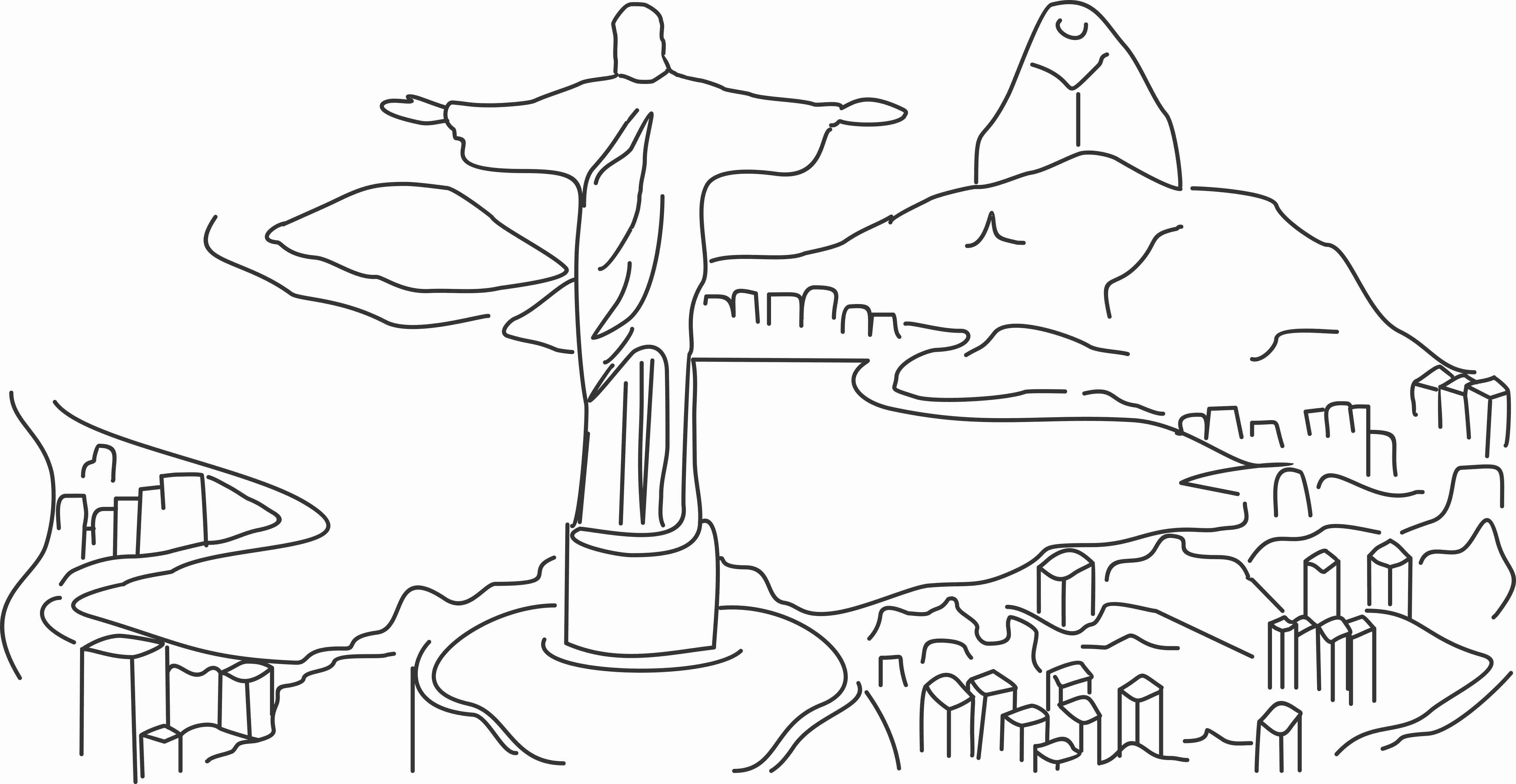 Desenho Cristo Cristo Redentor Desenho Cidade Desenho Cristo