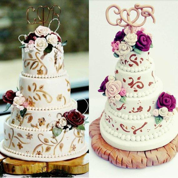 Wedding cake christmas ornament