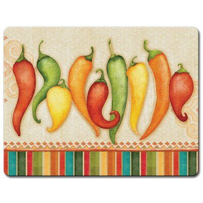 HighlandHome Highland Home Chili Peppers Tempered Glass Cutting Board | Wayfair
