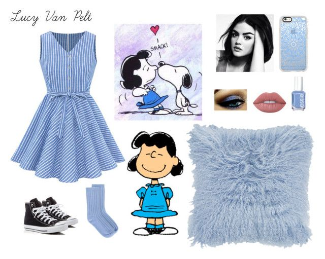 """""""Lucy Van Pelt💙By:Amie💙"""" by anneamiejole ❤ liked on Polyvore featuring beauty, Converse, Casetify, Lime Crime, Essie, Amara, Valentino and Rochas"""
