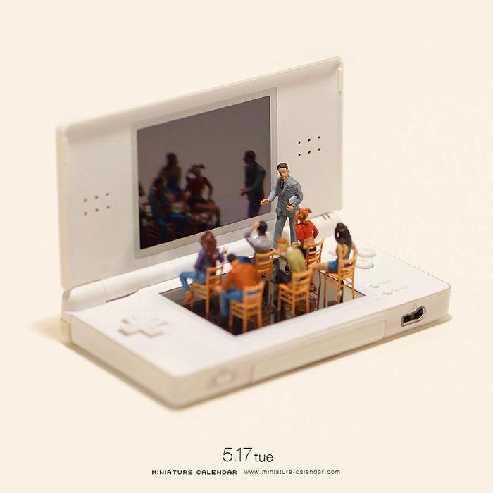 Miniature Calendar Miniature Calendar Miniature Photography