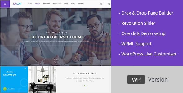 Sylor v1.1 Minimal Creative Agency WordPress Portfolio Blogger ...