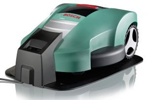 Bosch robotic lawn mower cuts the grass while you relax