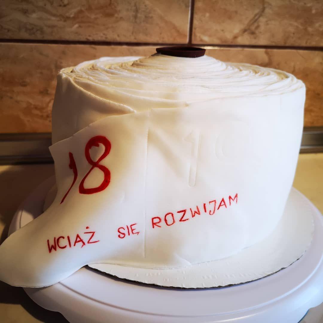 18urodziny 18birthday 18geburtstag Varde N X Wciazsierozwijam Tort Papiertoaletowy Toiletenpapier Desserts Cake Gifts