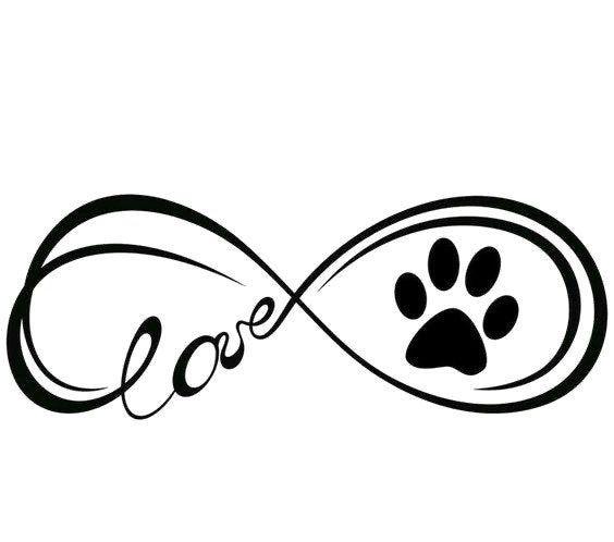 Infinity Symbol Love Dog Paw Svg Png Jpg Cricut Etsy In 2020 Dog Tattoos Pawprint Tattoo Dog Memorial Tattoos