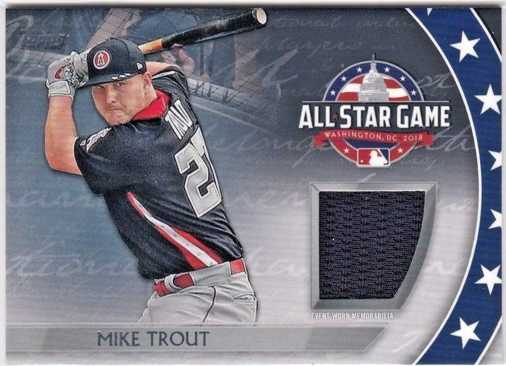 new product affe4 a2a6f 2018 Topps Update MIKE TROUT All Star Stitches Game Used ...