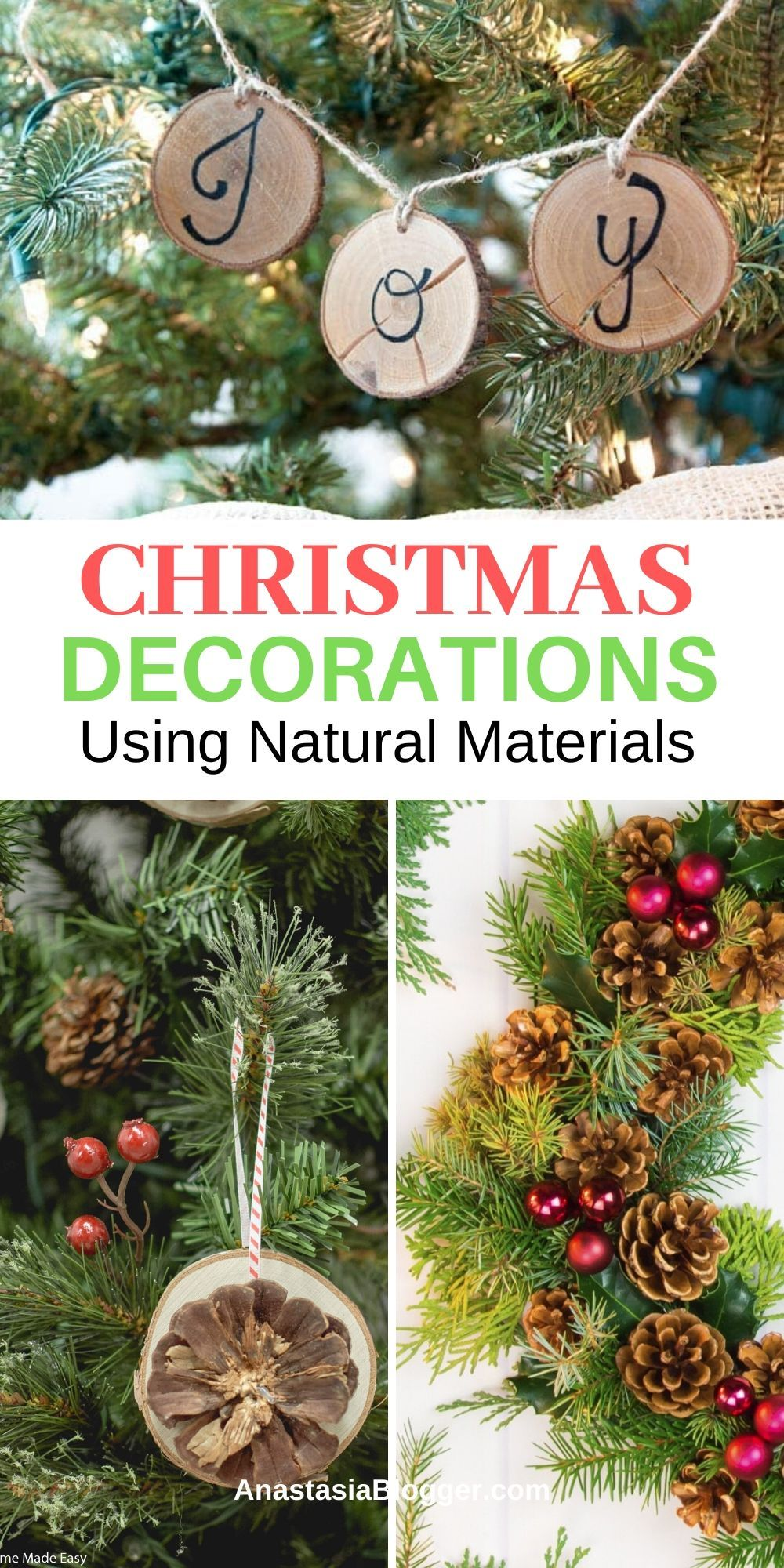 15 Best Christmas Decorations Made From Natural Materials Diy Ideas Fun Christmas Decorations Christmas Decorations Christmas Tree Decorations