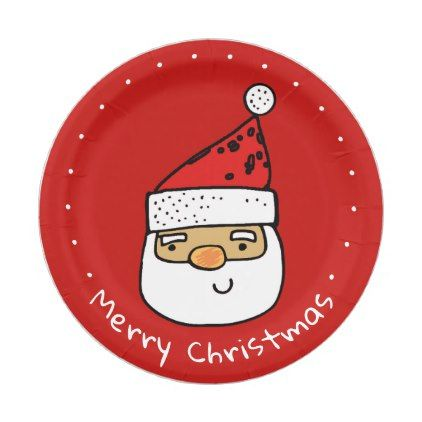 Custom Santa Whimsical Trendy Christmas Holiday Paper Plate - diy cyo customize create your own #  sc 1 st  Pinterest & Custom Santa Whimsical Trendy Christmas Holiday Paper Plate - diy ...