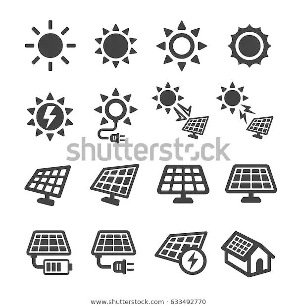 Solar Energy Icon Stock Vector Royalty Free 633492770 Solar Energy Energy Logo Solar
