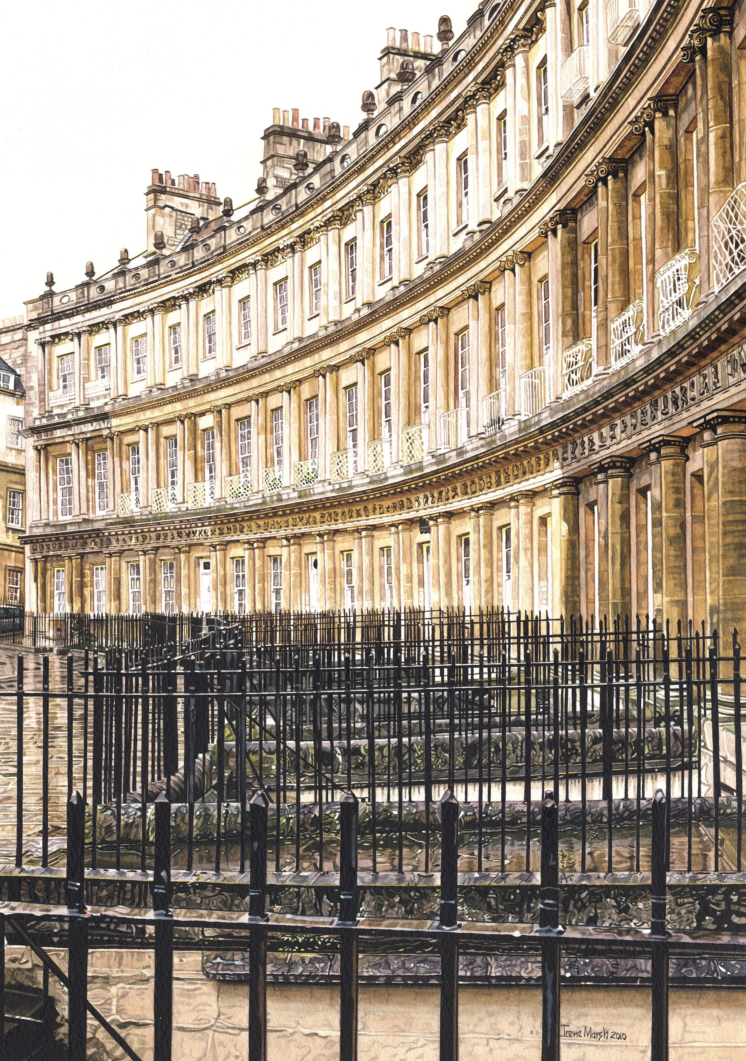 the circus in bath somerset georgian architecture painting