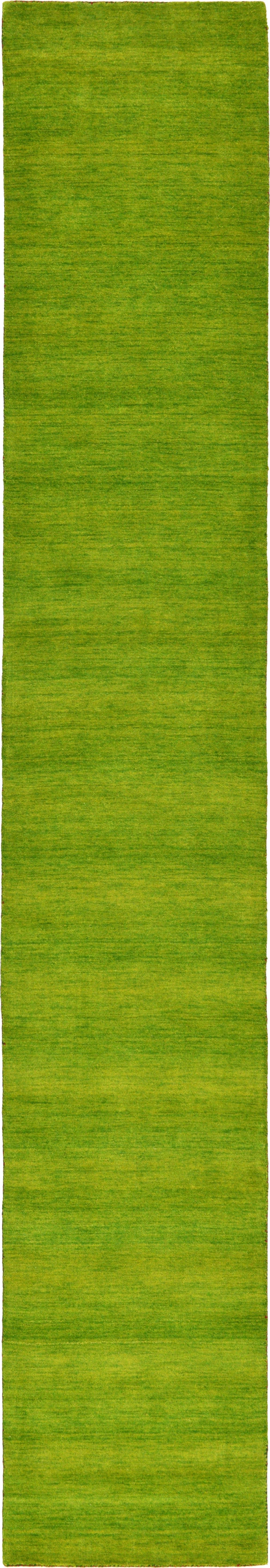 Green 2 7 X 16 5 Solid Gabbeh Runner Rug Rugs Com Gabbeh Rug Runner Rugs