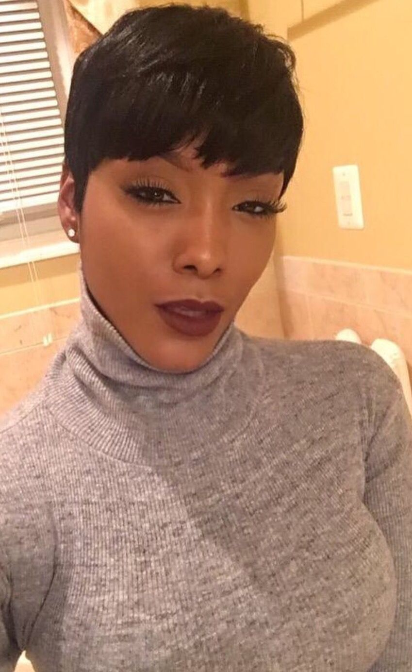 Natural hairstyles for short hair black women hair and tattoos - Find This Pin And More On Hairstyles Classic Pixie By On 50 Short Hair Style Ideas For Women