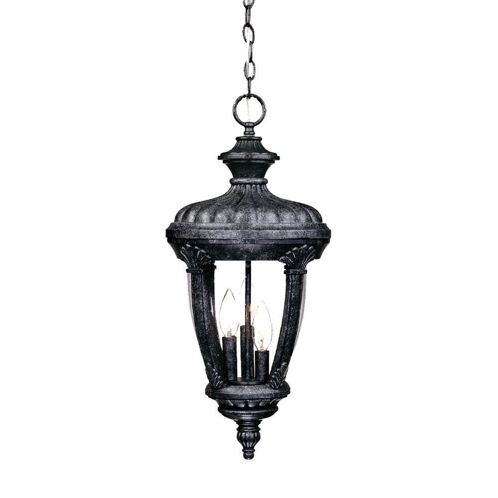 Monte carlo collection hanging lantern 3 light outdoor stone light monte carlo collection hanging lantern 3 light outdoor stone light fixture with clear shade arubaitofo Image collections
