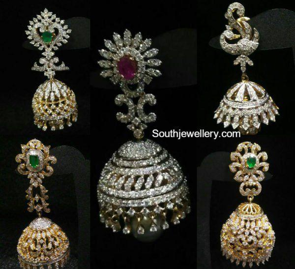 diamond jhumkas indian -#main