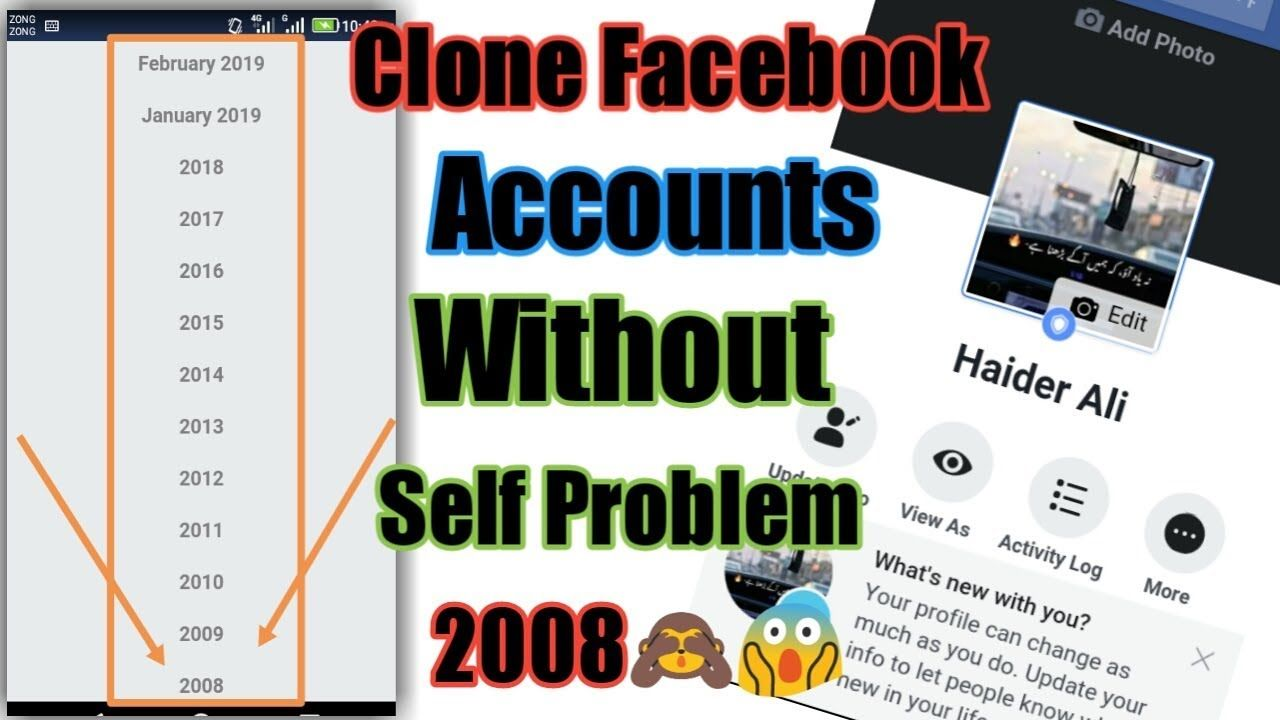 How To Clone Unlimited Self Clear Facebook Account 2019 Facebose