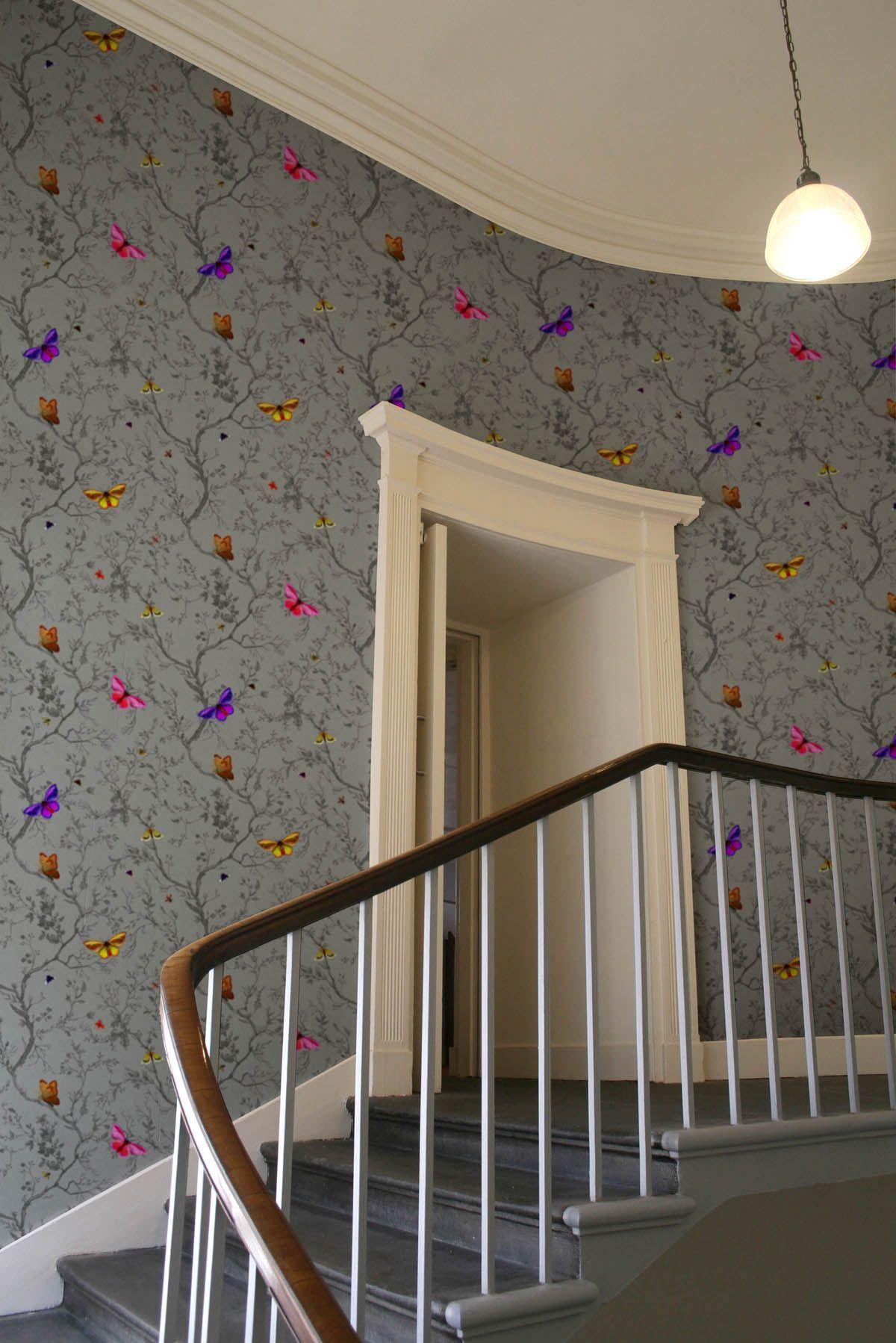 Best Timorous Beasties Wallcoverings Butterflies Wallpaper 400 x 300