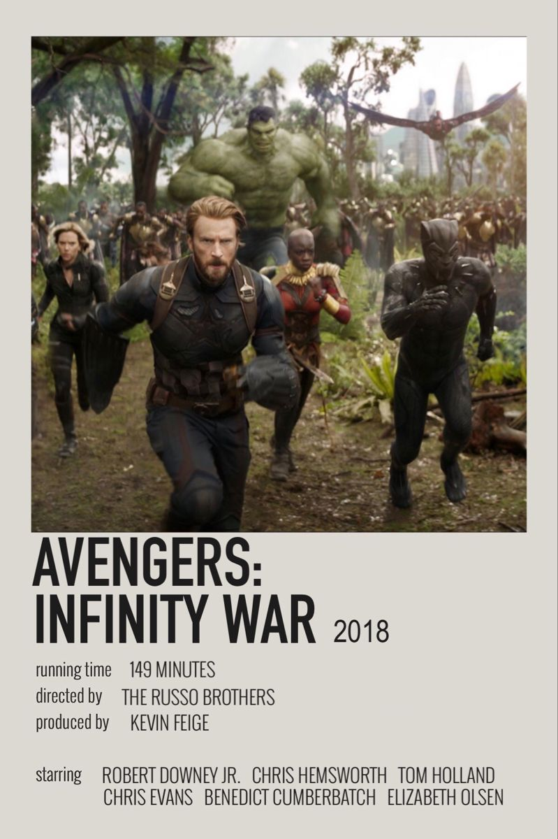 Avengers Infinity War 2018 Polaroid Poster In 2021 Marvel Superhero Posters Marvel Movie Posters Marvel Avengers Movies
