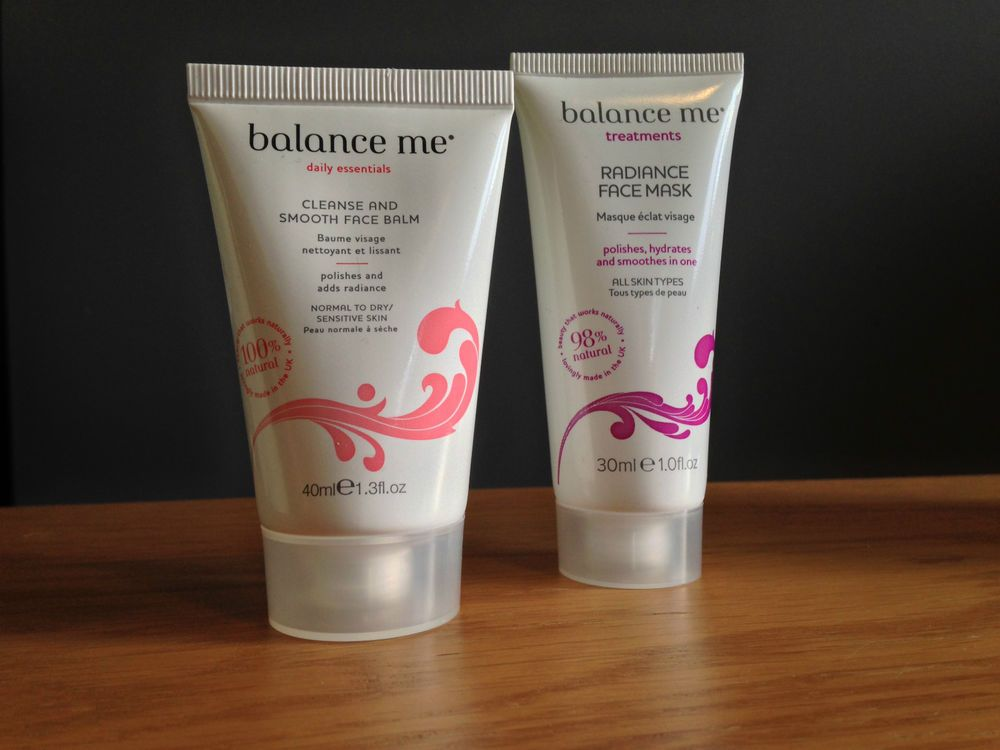 Balance Me Cleanse & Smooth Face Balm 40ml + Radiance Face Mask 30ml New/Sealed