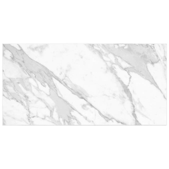 Satori Regent Carrara Glossy 8 In X 16 In Glossy Ceramic Marble Look Wall Tile In The Tile Department At Lowes C In 2020 Ceramic Wall Tiles Wall Tiles Marble Look Tile