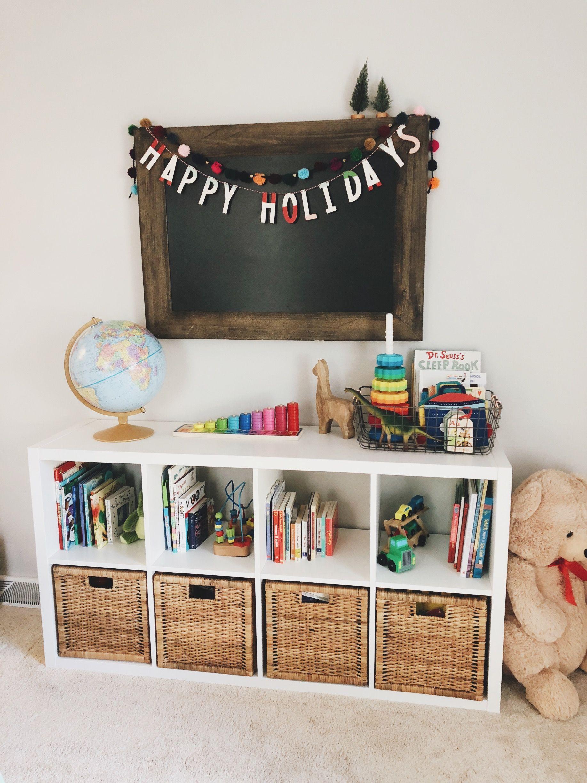 Playroom Ikea Cube Shelf Hallax Shelf Playroom Storage Bookshelf Chalkboard Replogle Globe Playroom Decor Ikea Cube Shelves Playroom Storage Ikea Cubes