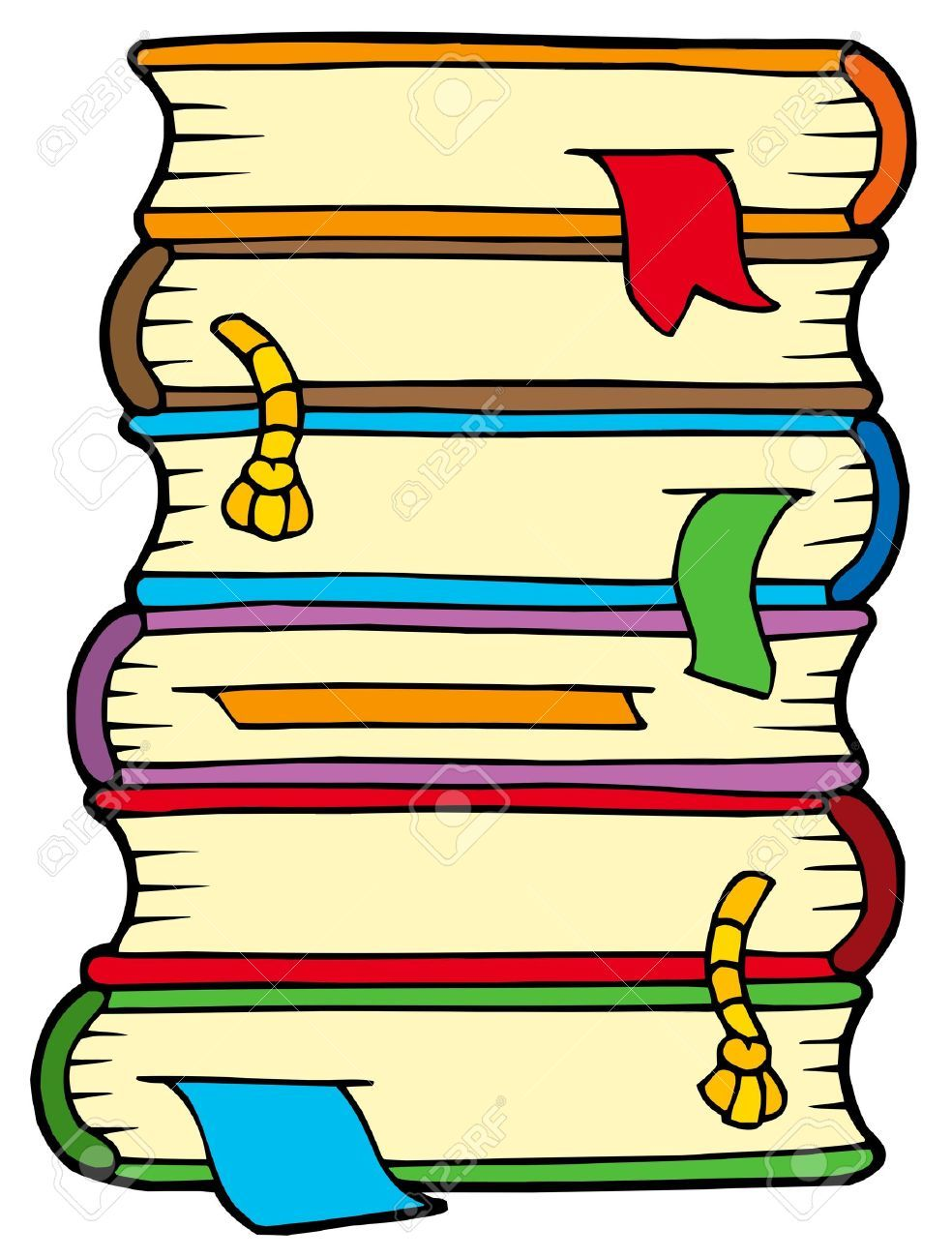stack of books clipart google search clip art doodling rh pinterest com