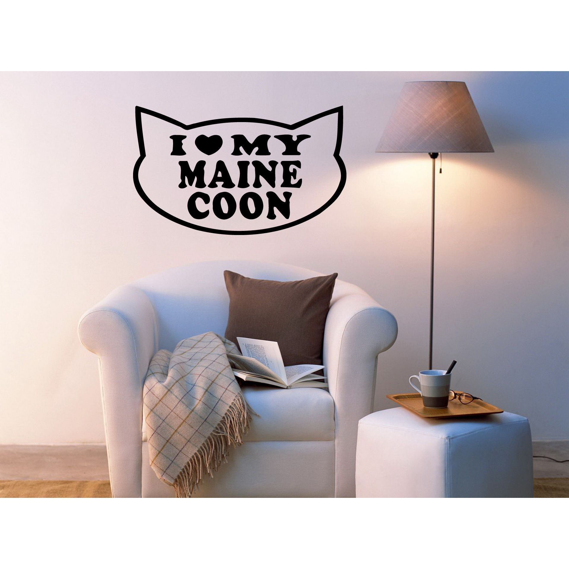 I Love Maine Coon Cat Wall Art Sticker Decal Maine Coon Maine - Custom vinyl decals maine