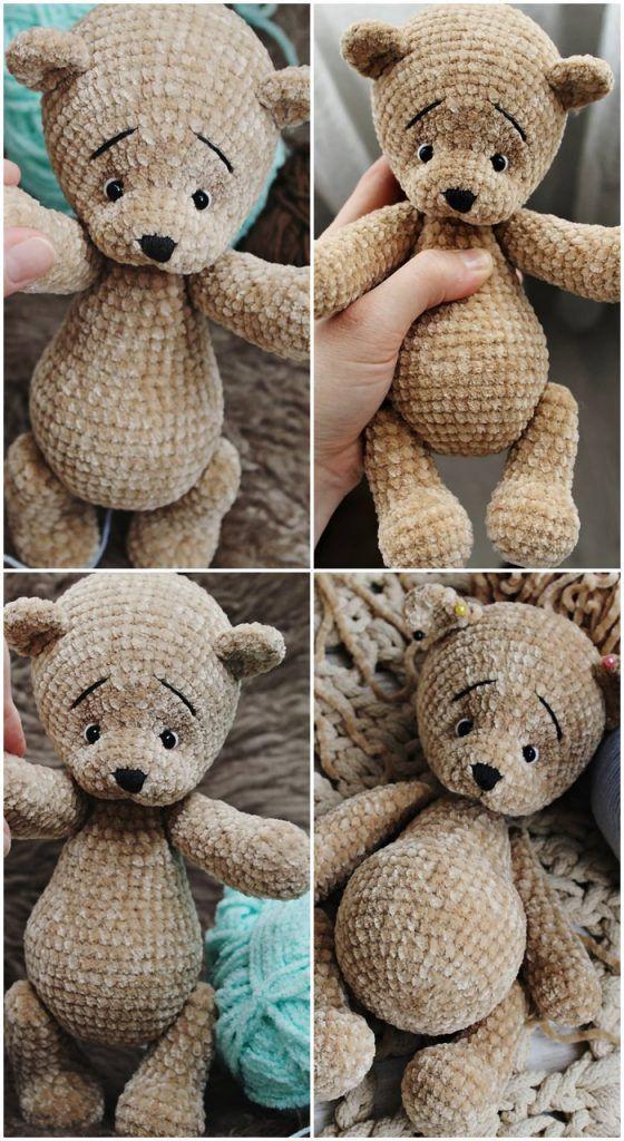 Kostenlose Amigurumi Teddybär Häkelanleitungen - Amigurumi -   # #crochetteddybearpattern