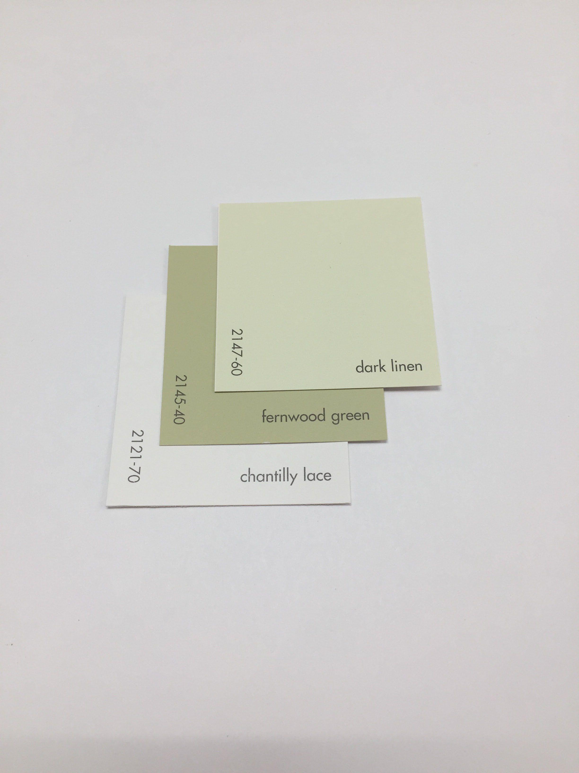 Benjamin Moore Dark Linen 2147 60 Fernwood Green 2145 40