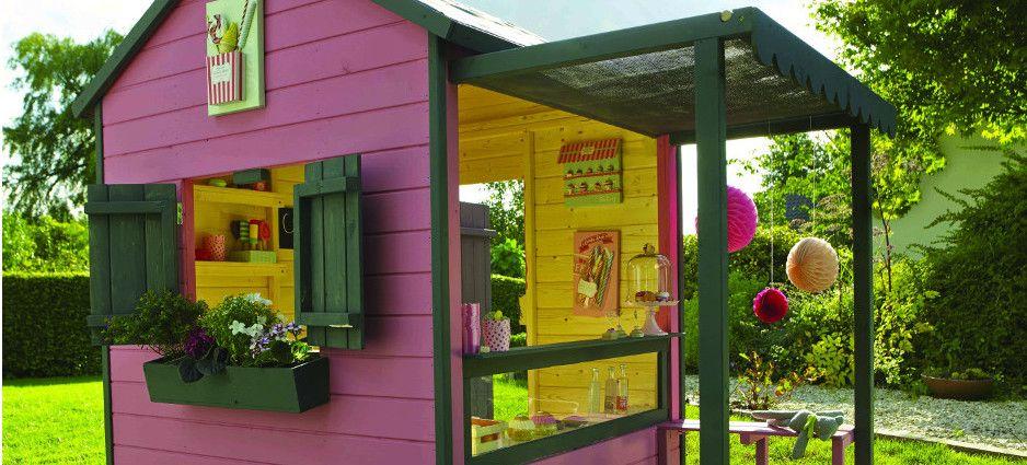 Castorama cabanes de jardin pour enfants jardin - Maison d enfant pour jardin ...
