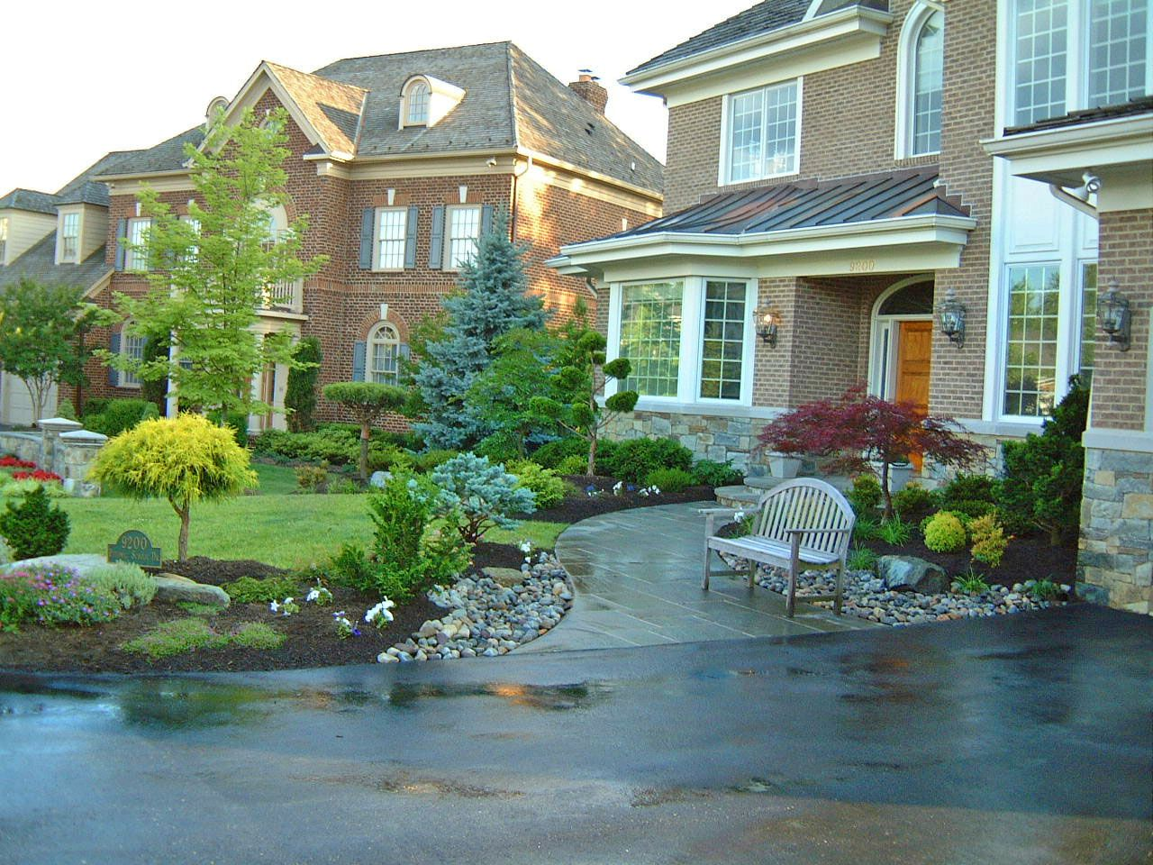 front entrance landscape design by lee 39 s oriental