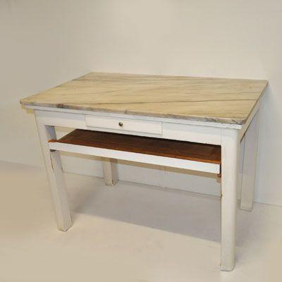 Tavolo Da Cucina In Marmo Anni 50.Di Flaviano Antichita Tavolo Da Cucina Attrezzato Con Piano In