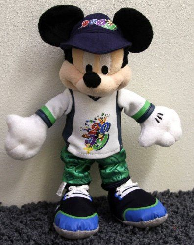 Retired Disney 2009 Mickey Mouse 9 Inch Plush Bean Bag Doll New With Tags Mickey