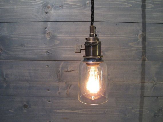 Modelo Beer Bottle Small Pendant Light Short Clear Upcycled