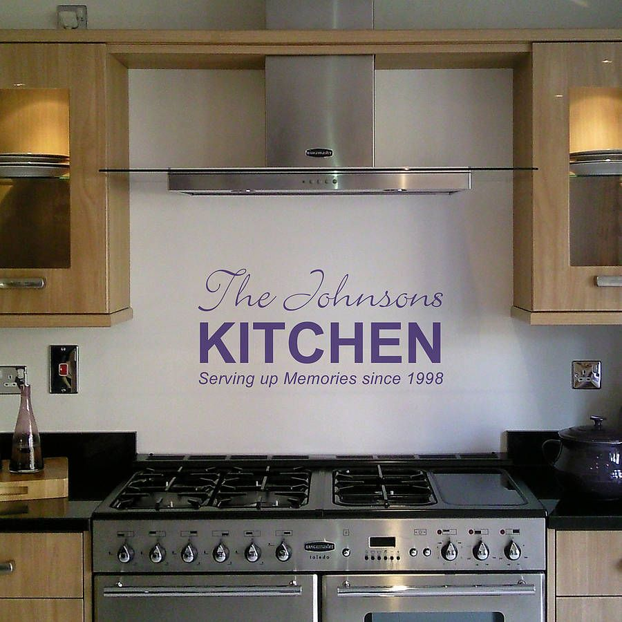Personalised Kitchen Wall Sticker | Kitchen wall stickers, Wall ...