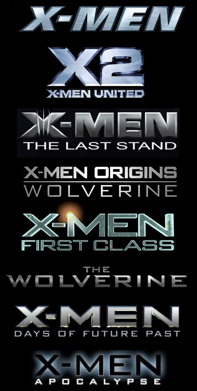 X Men Release Order Xmen Movies In Order Wolverine Movie X Men