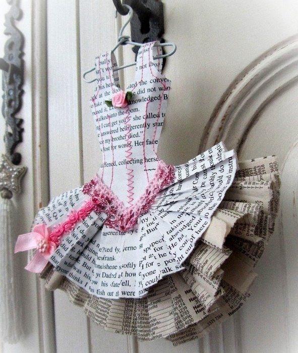 Имя, открытка из газеты платье