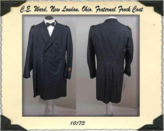 Mens Vintage Fraternal Masonic Frock Coat XL by NobleSavageVintage, $90.00
