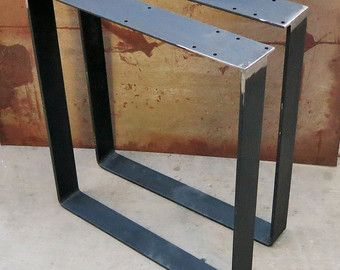 Ships In 1 3 Business Days Metal Table Legs U Shape Set Of 2 Metal Table Legs Metal Table Table Legs