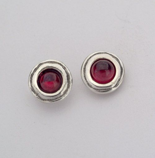 Shablool Female Silver Pendant 925 Sterling Silver Garnet Oval Red