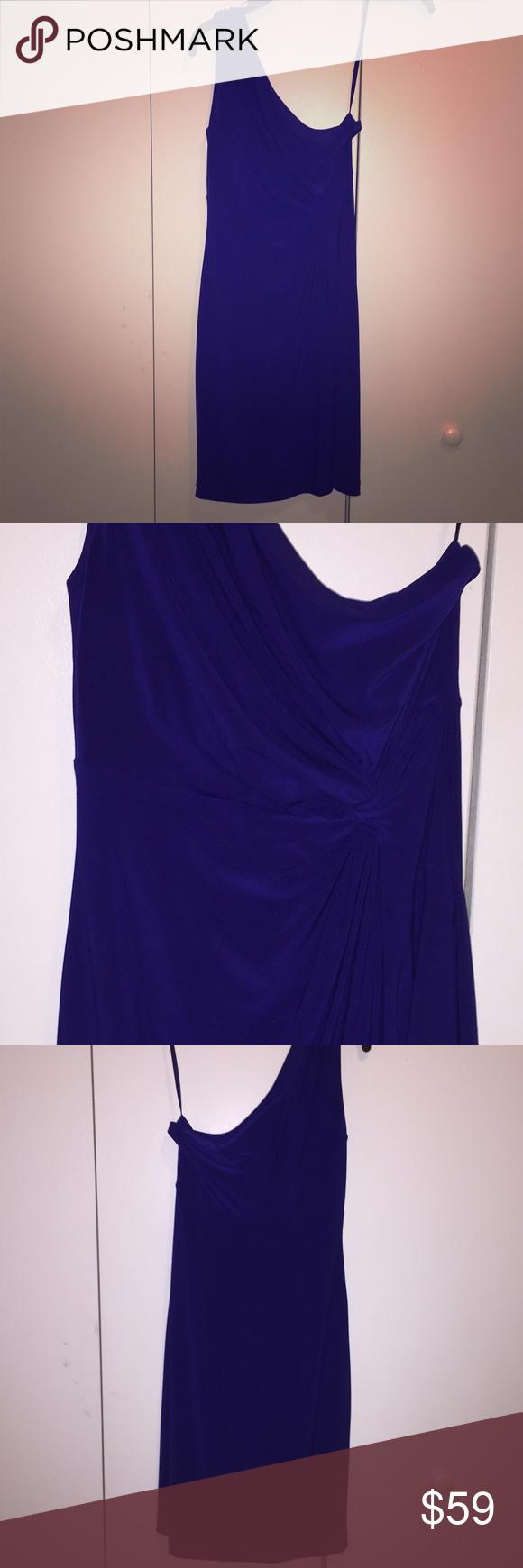 One-shoulder royal blue cocktail dress Excellent condition! Worn once! Lauren Ralph Lauren Dresses One Shoulder