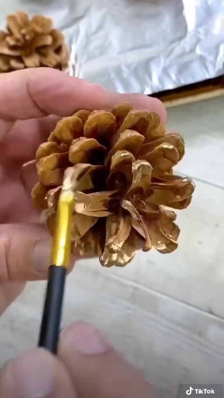 3 Ways to Craft with Gold Pine Cones