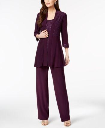 Macys Womens Dressy Pant Suits