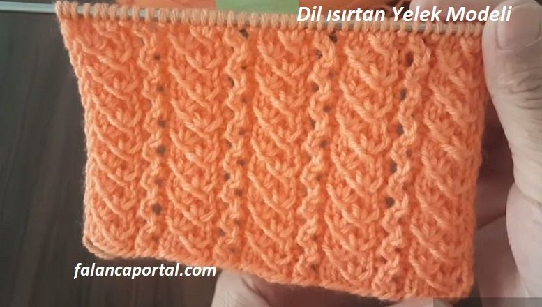 Dil Isirtan Yelek Modeli Knitted Scarf Knitted Fashion