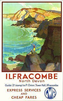 Vintage British Railways Devon Railway Poster A3//A2//A1 Print