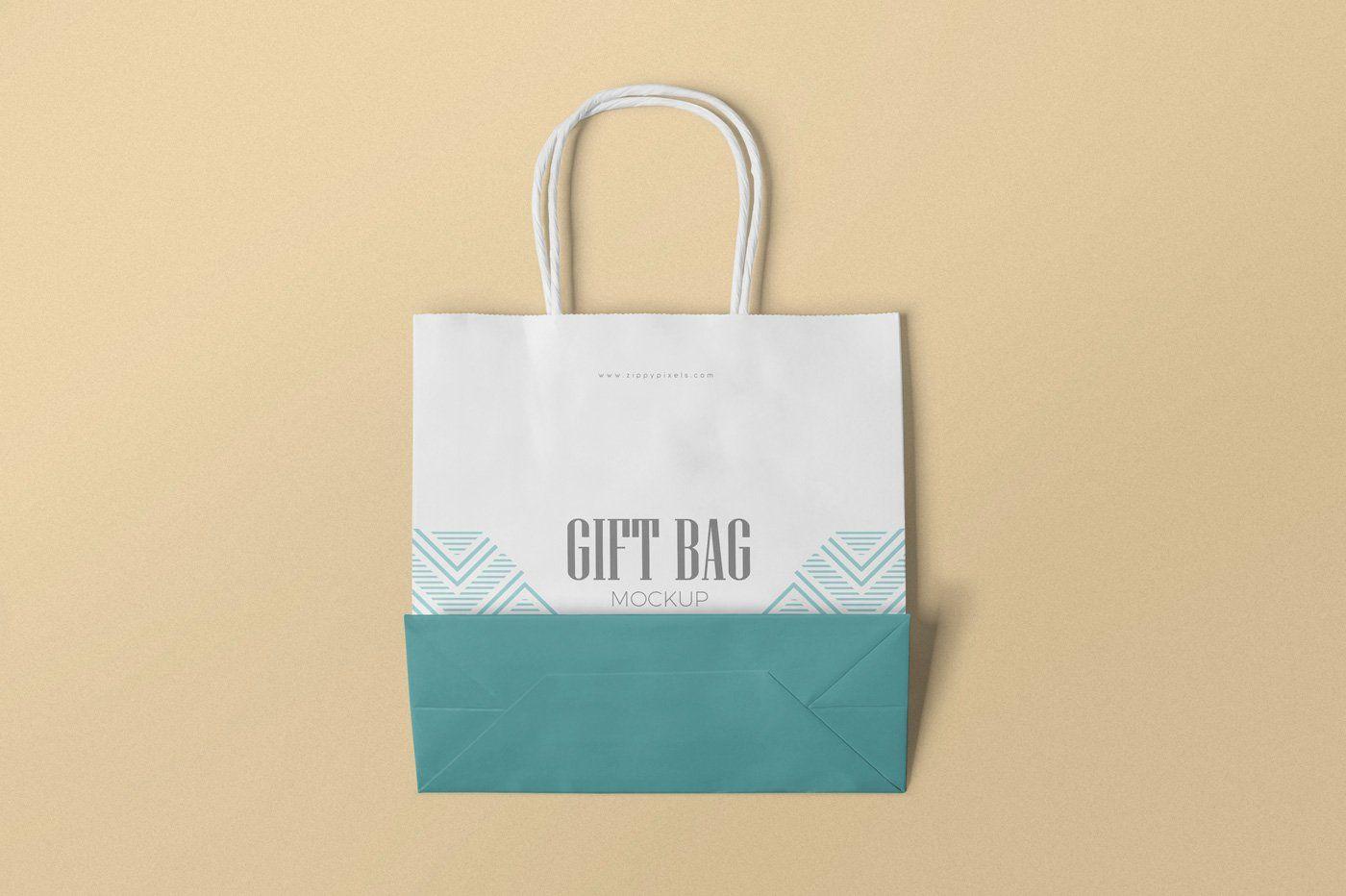Download Gift Bag Mockups Bag Mockup Business Card Inspiration Luxury Paper Bag