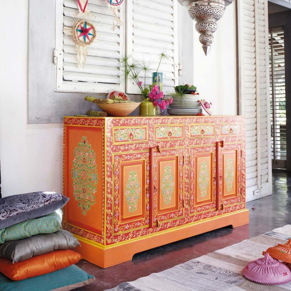 Bedroom Furniture Designs Pictures In India Grey Bedroom Colour Combination Bedroom Design With Tiles Bedroom Interior For Boys: Bohemian Dressoir For An Eclectic Interior