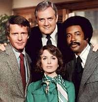 Elizabeth Baur, Don Calloway, Raymond Burr and Don Mitchell stars in Ironside.