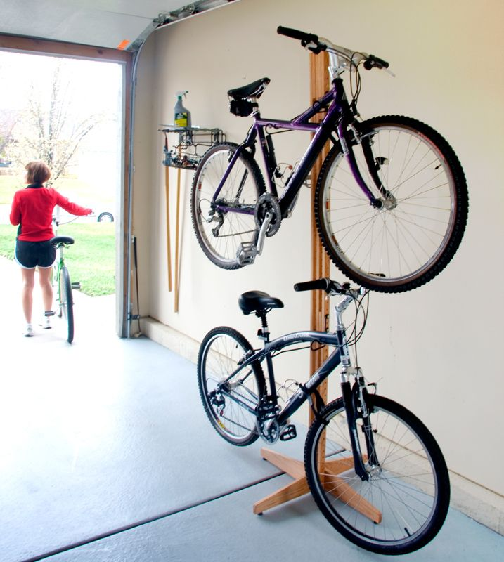 A Floor Stand Bike Rack The Doesn T Require Mounting Screws Into