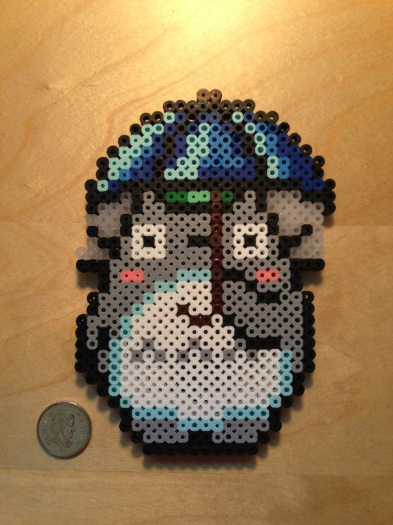 Totoro Magnet Perler Beads By Djbits Asian Cross Stitch Hama