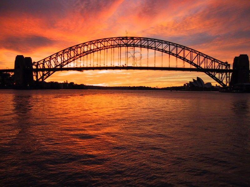 صور شروق الشمس احلي صور وخلفيات للشروق ميكساتك Harbor Bridge Sydney Harbour Bridge Sunrise